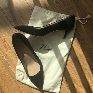 Jcrew suede kitten heels — Made in Italy!